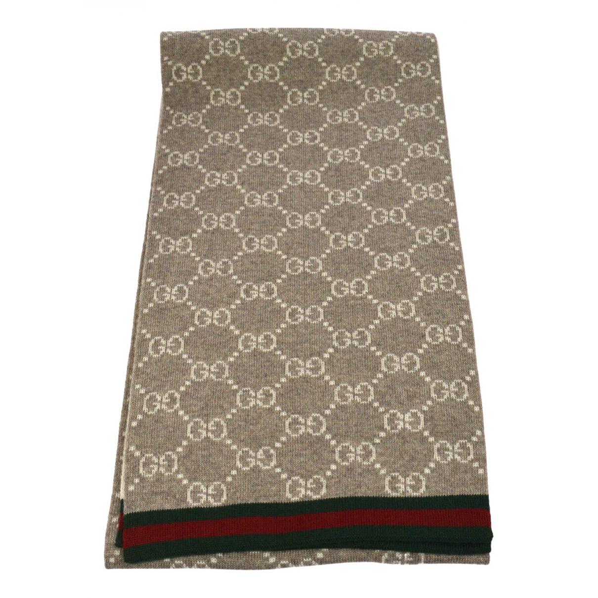 Gucci - Foulard   pour femme en laine - beige