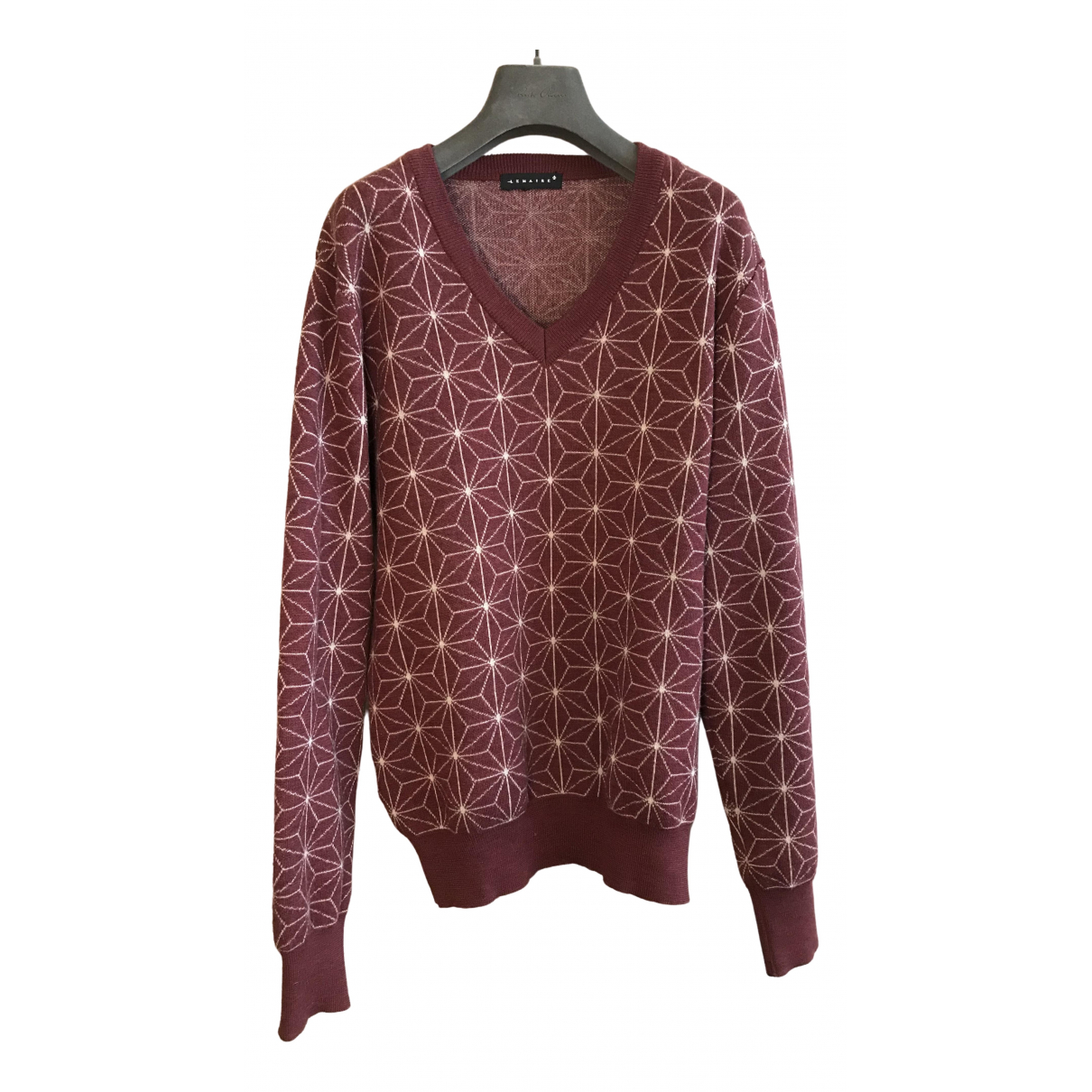Lemaire \N Pullover.Westen.Sweatshirts  in  Bordeauxrot Wolle