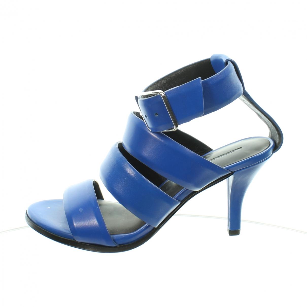 Alexander Wang - Sandales   pour femme en cuir - bleu