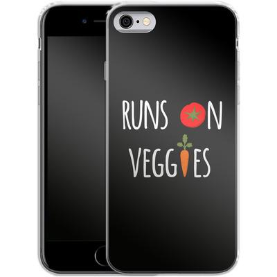 Apple iPhone 6 Silikon Handyhuelle - Runs on Veggies von caseable Designs