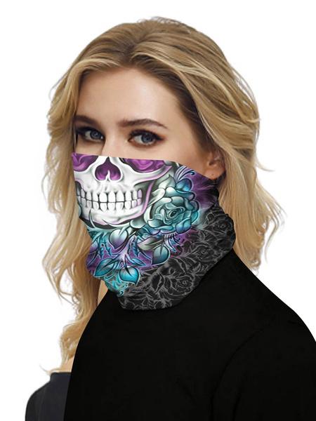 Milanoo Face Cover Mouth Cover Bandanas Seamless Sugar Skull Tube Headwear