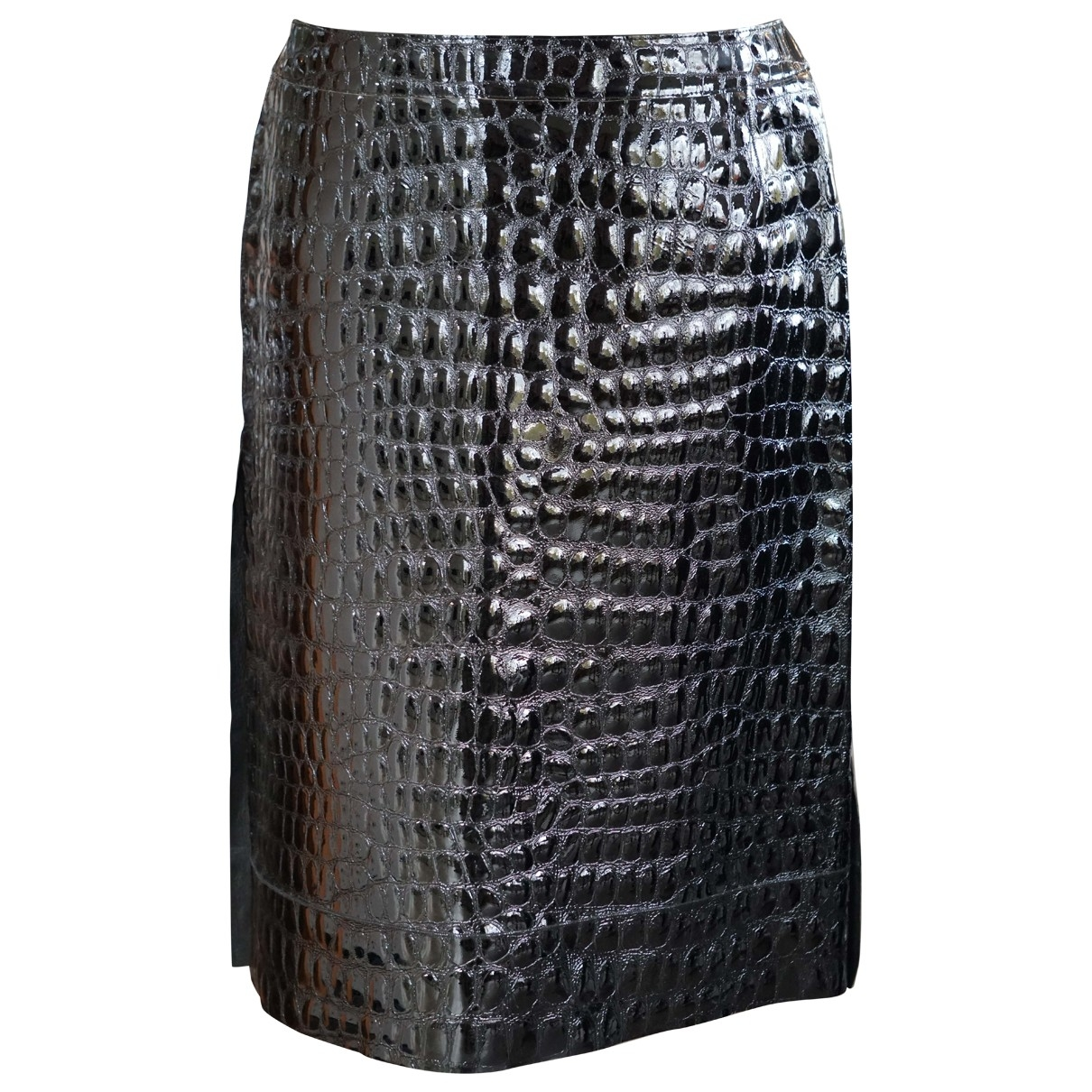 Marni \N Black Patent leather skirt for Women 42 IT