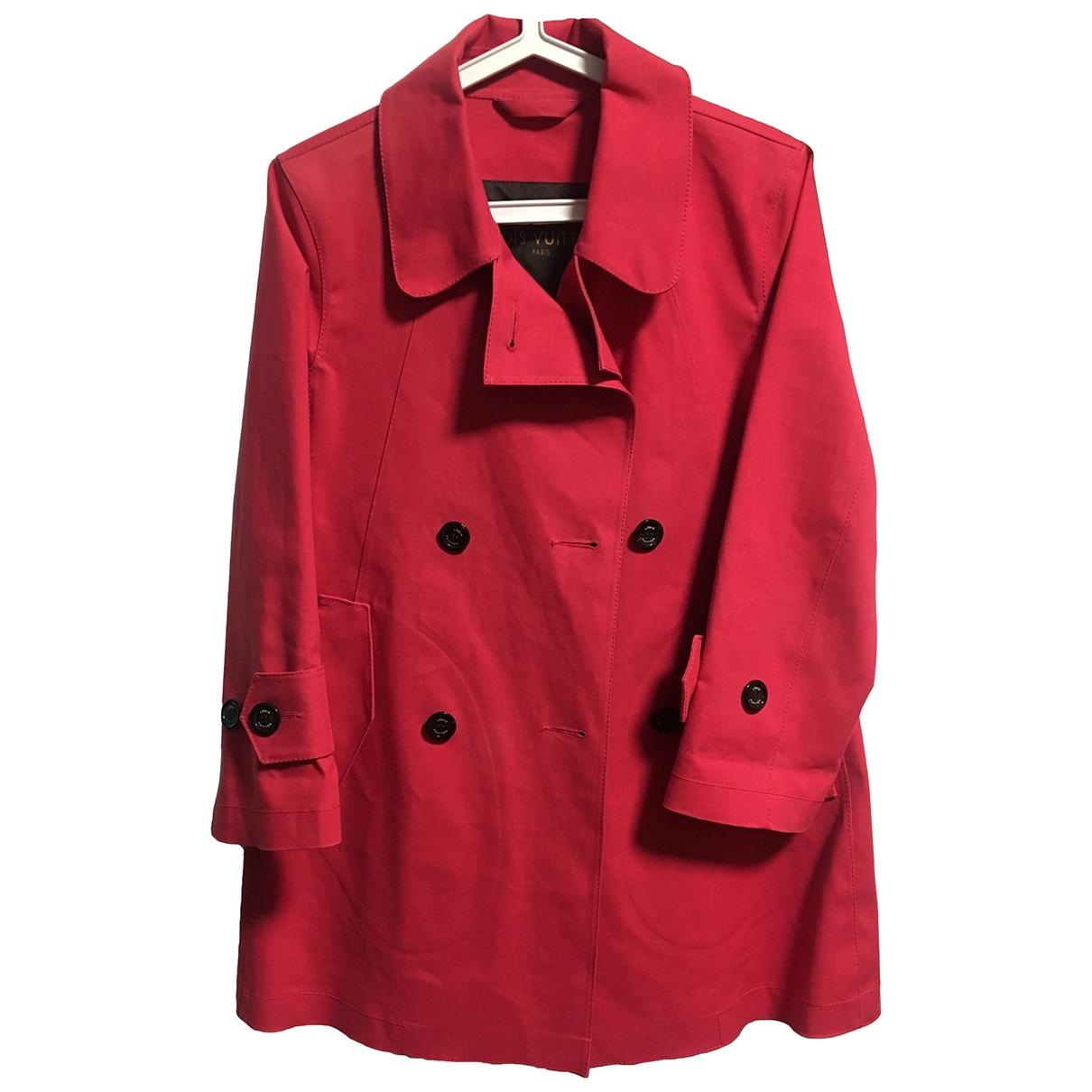 Louis Vuitton - Trench   pour femme en coton - rouge