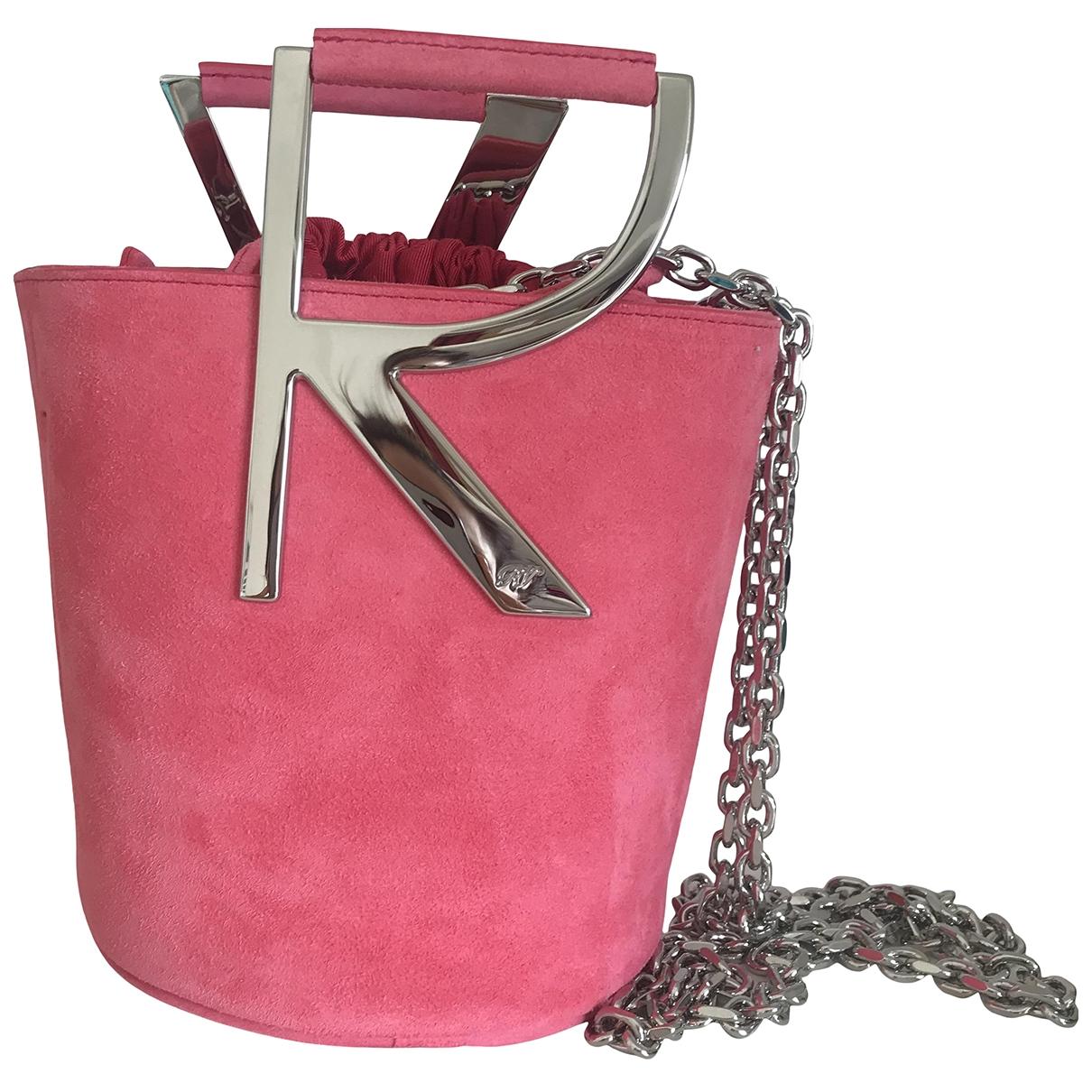 Roger Vivier - Pochette Mini sac viv sellier pour femme en suede - rose