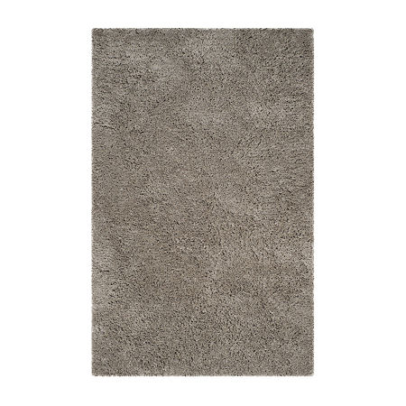 Safavieh Florence Shag Collection Douglas Solid Area Rug, One Size , Silver