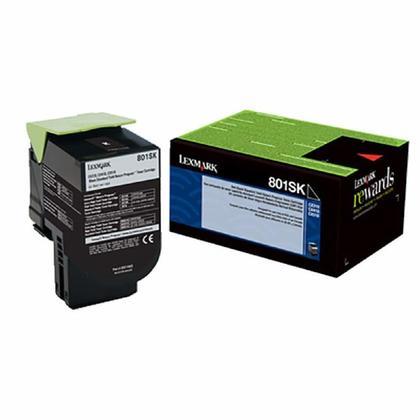 Lexmark 80C1SK0 cartouche de toner du programme retour originale noire