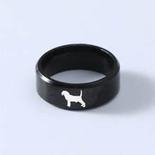 Maenner Vintage Titanstahl Ring