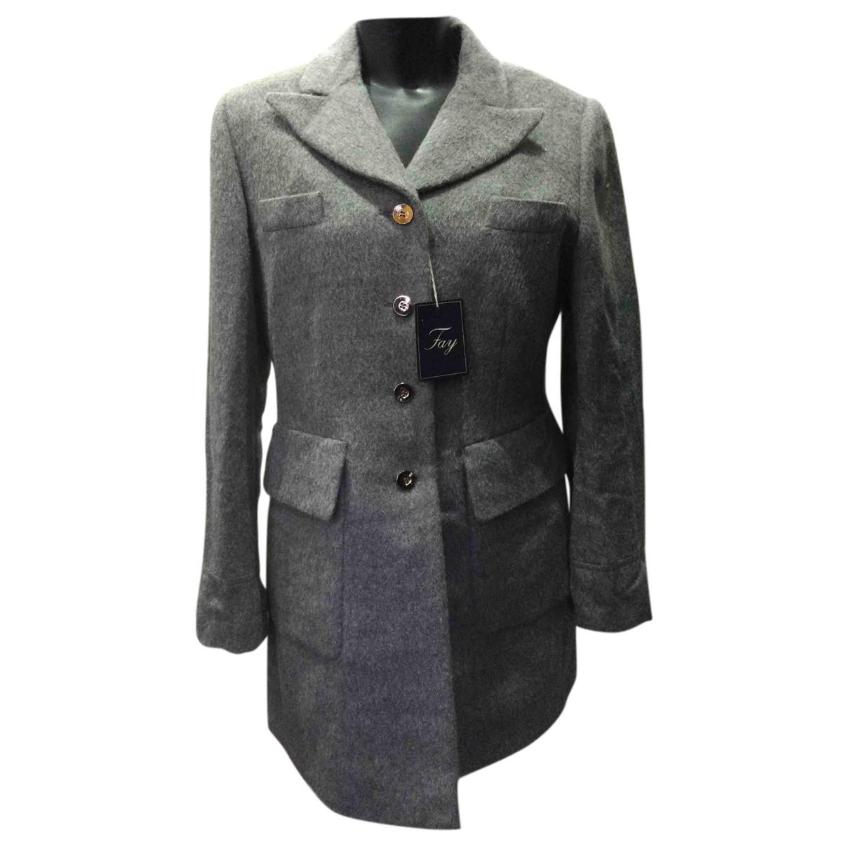 Fay N Grey Wool coat for Women XL International