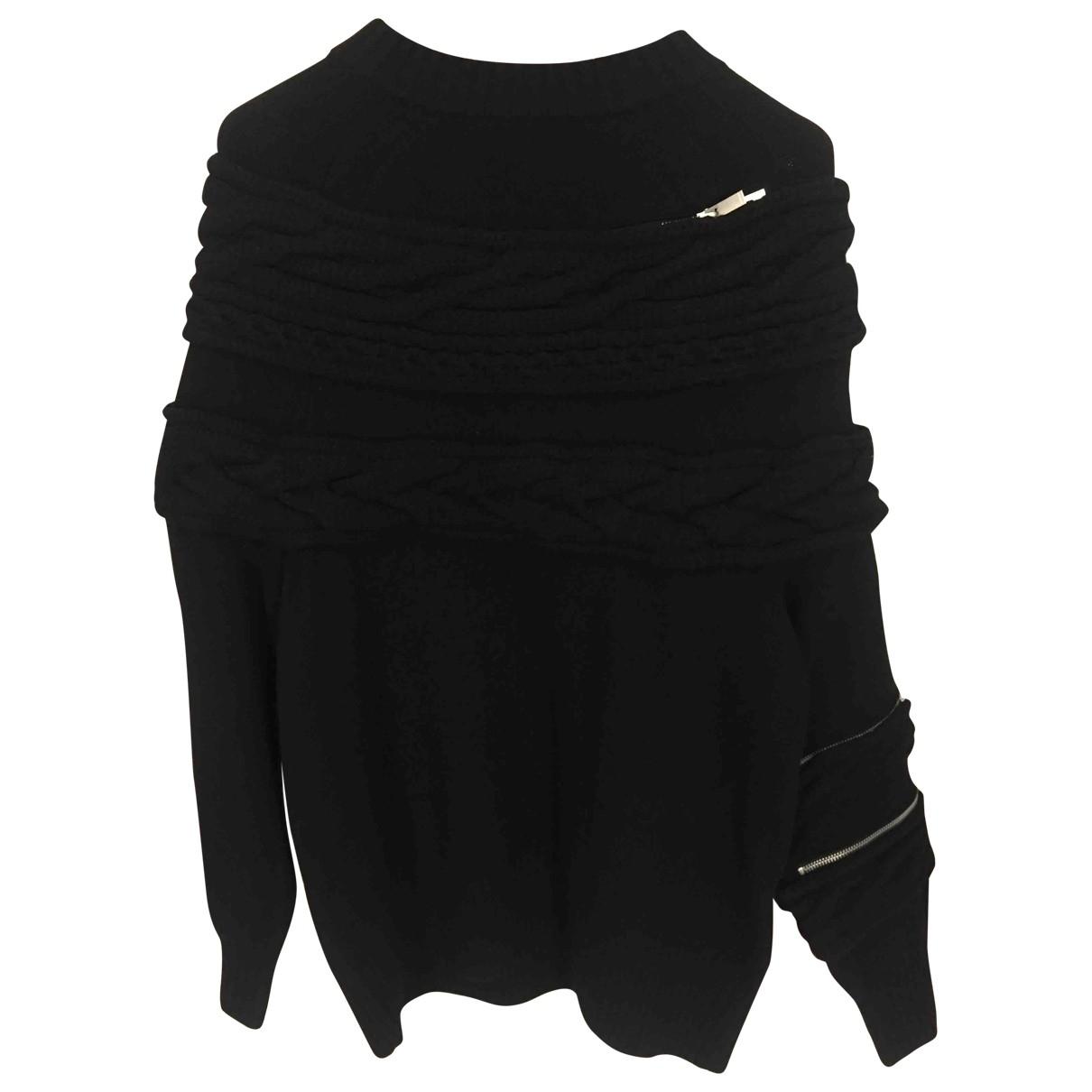 Sacai \N Black Wool Knitwear for Women 1 0-5