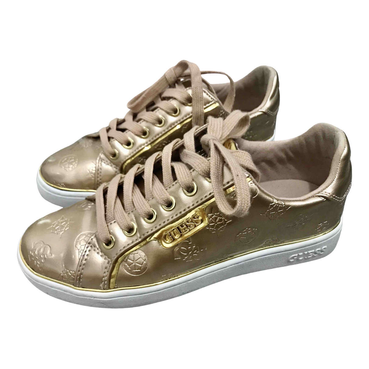 Guess \N Gold Patent leather Trainers for Women 37 EU