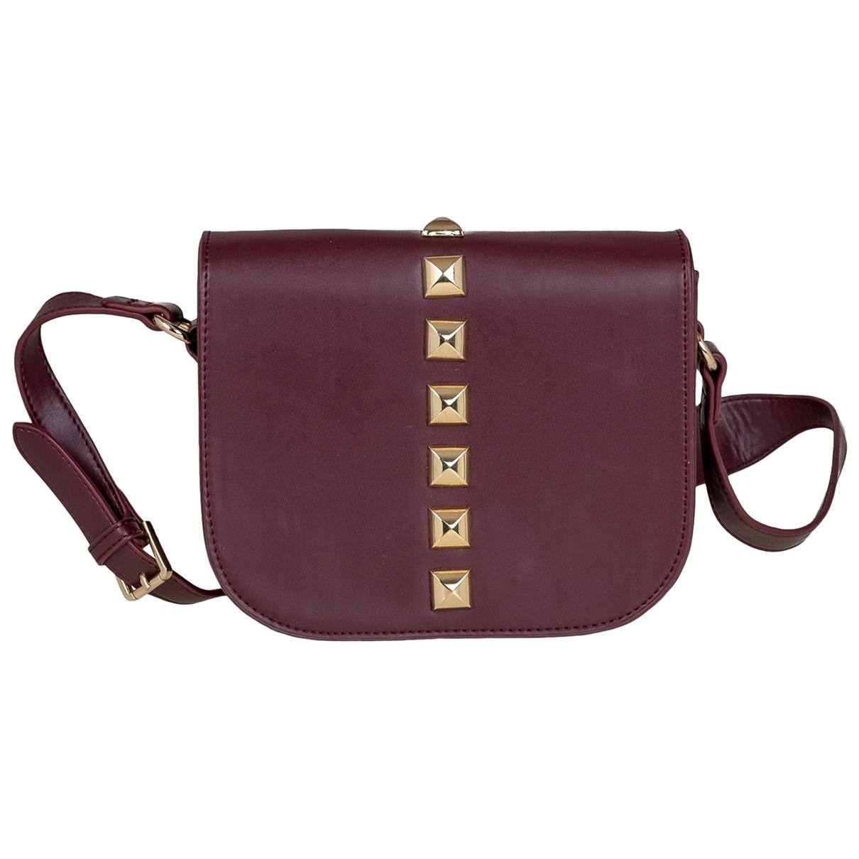 Non Signé / Unsigned \N Burgundy Leather handbag for Women \N