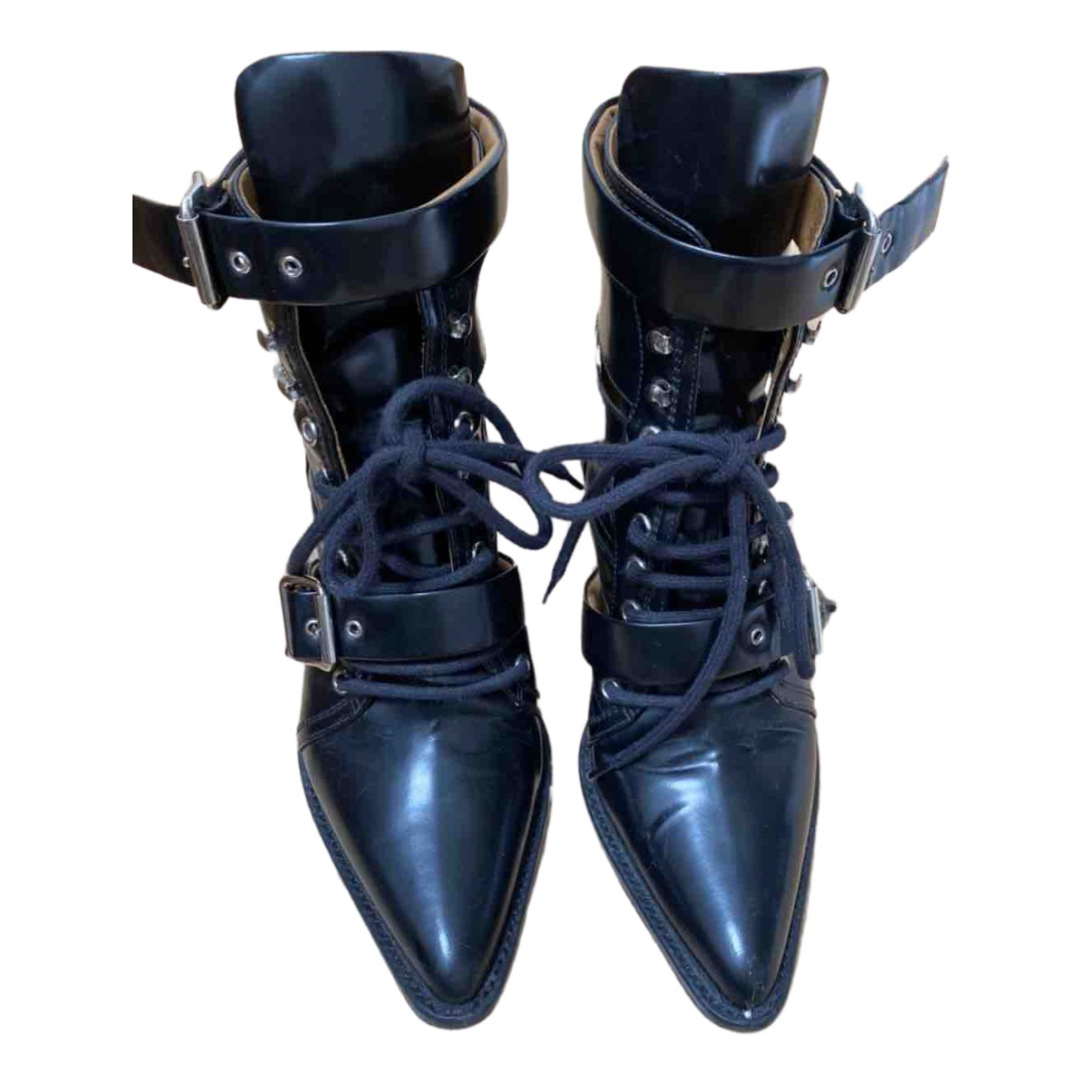 Chloé Rylee Black Patent leather Ankle boots for Women 39.5 EU