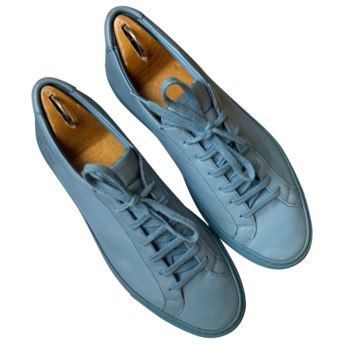Common Projects \N Blue Leather Trainers for Men 39 EU