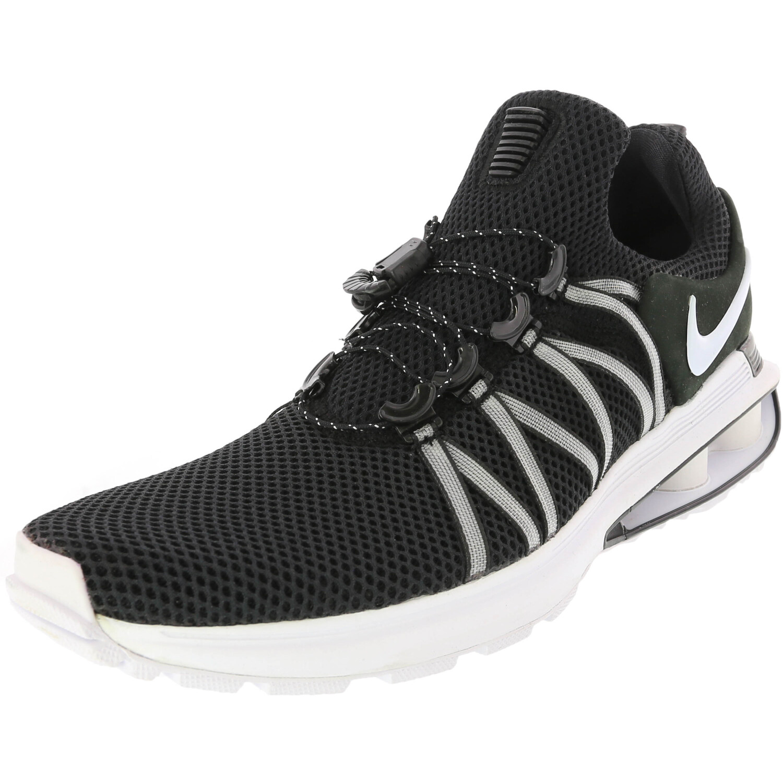 Nike Men's Shox Gravity Ankle-High Running Shoe - 10.5M - Black/White-White