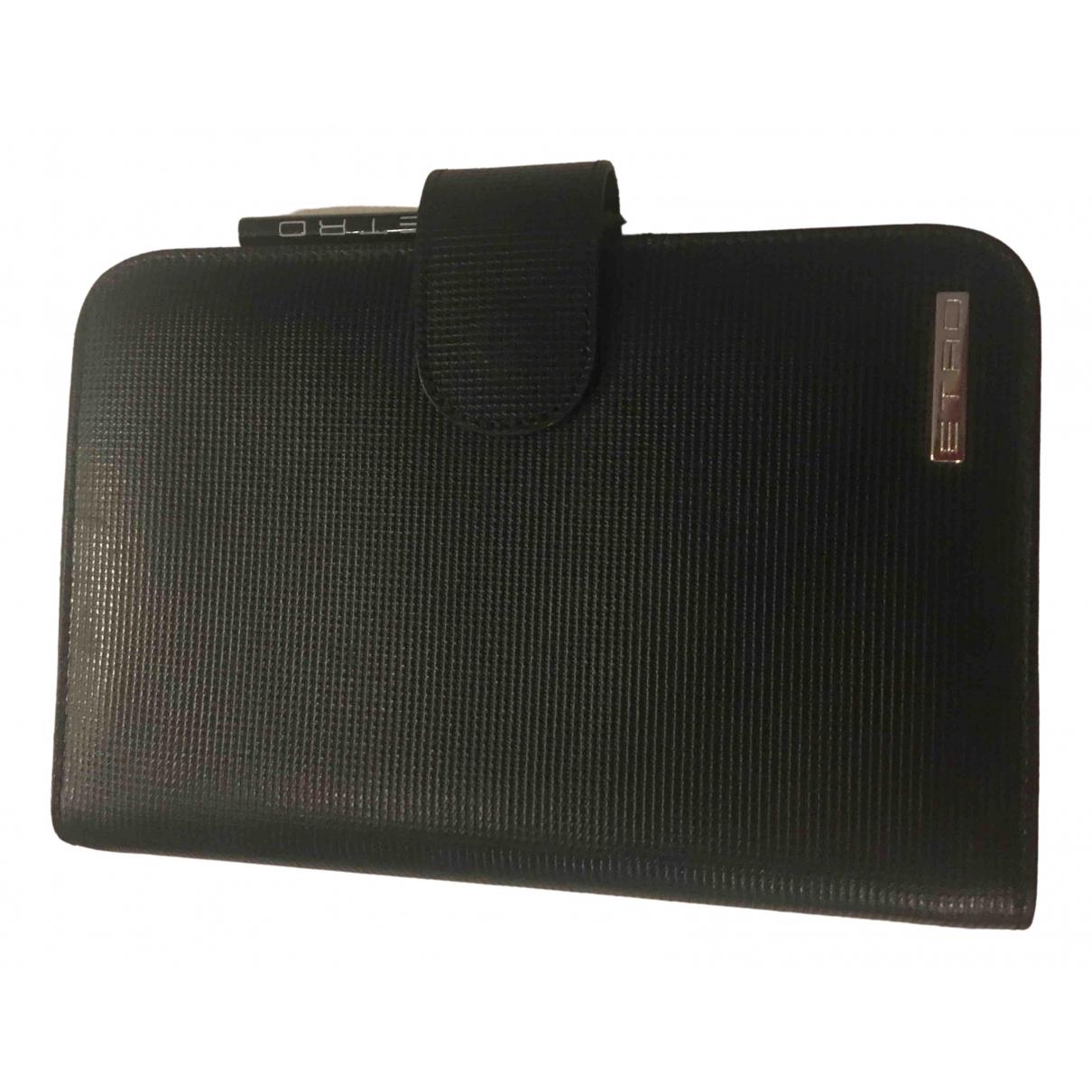 Etro \N Portemonnaie in  Schwarz Leder