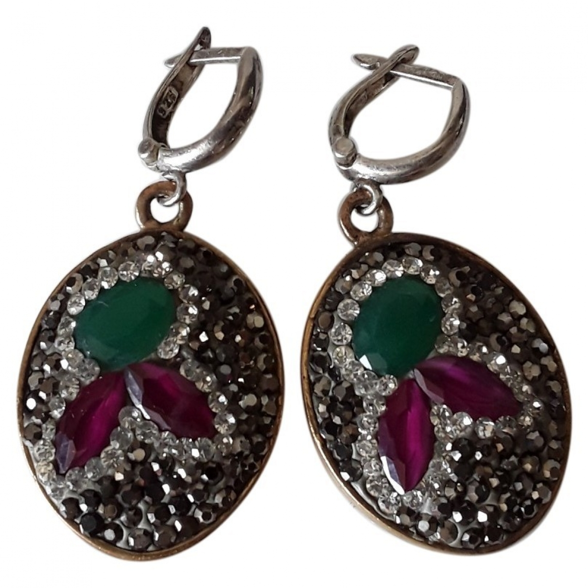 Non Signé / Unsigned \N Silver Earrings for Women \N
