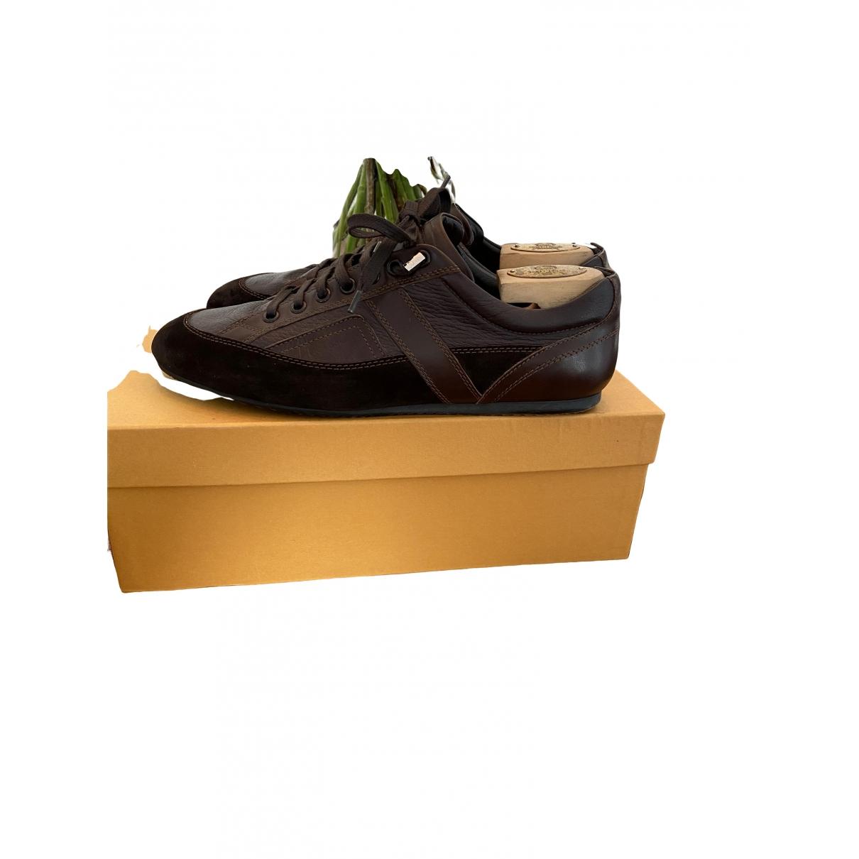 Dior Homme - Baskets   pour homme en cuir - marron