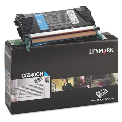 Lexmark C5240CH Original Cyan Return Program Toner Cartridge High Yield