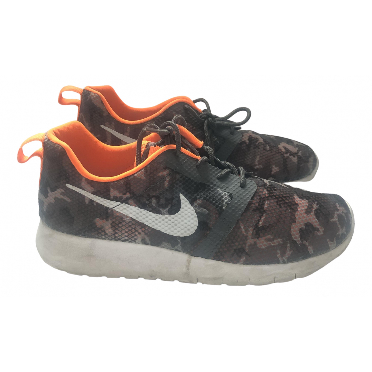 Nike - Baskets Roshe Run pour femme en toile - orange
