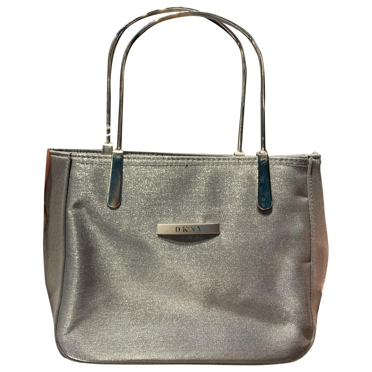Dkny N Silver Cloth Clutch bag for Women N