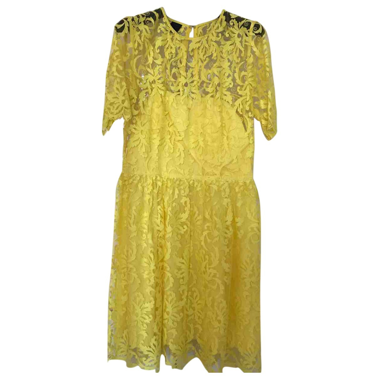 Pinko \N Kleid in  Gelb Polyester