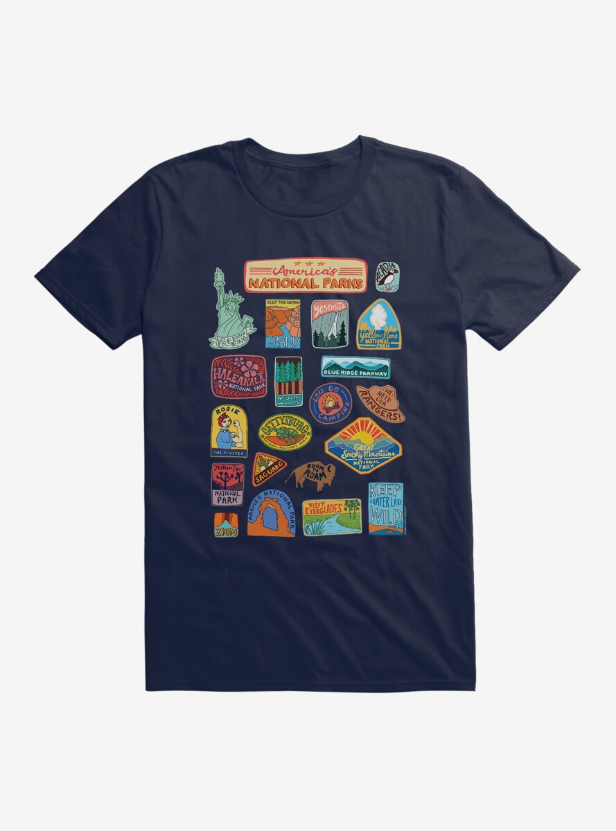 See America National Park Stickers T-Shirt