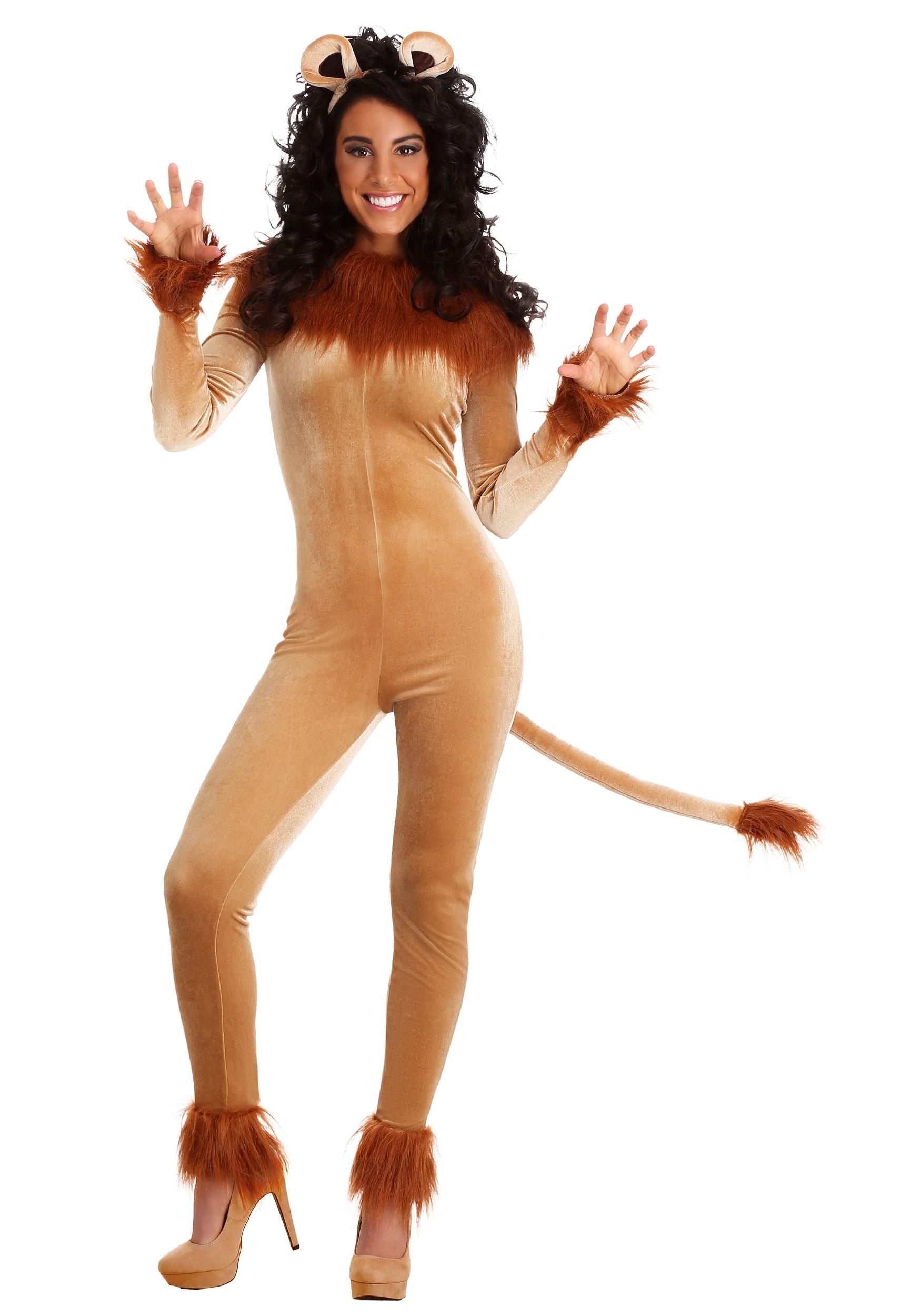 Womens Fierce Lion Costume