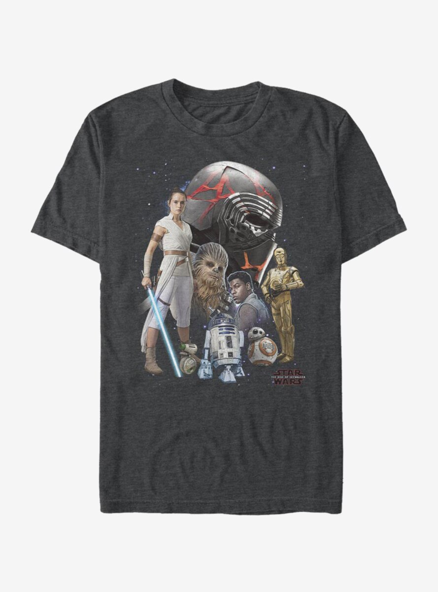 Star Wars Episode IX The Rise Of Skywalker Heroes Of The Galaxy T-Shirt