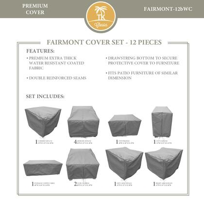FAIRMONT-12bWC-GRY Protective Cover Set  for FAIRMONT-12b in