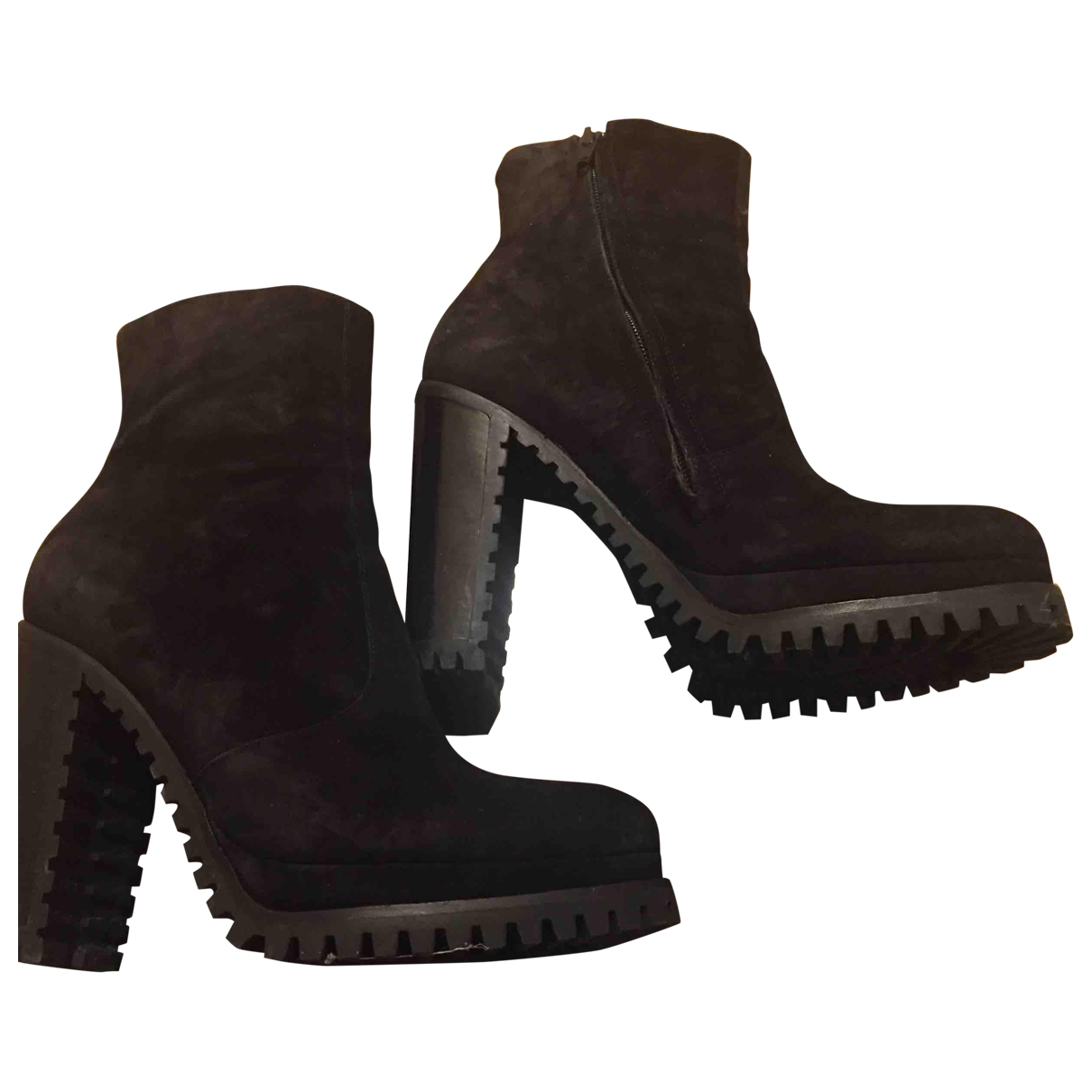 Free Lance \N Black Suede Ankle boots for Women 37 EU