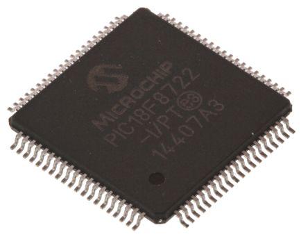 Microchip PIC18F46K22-I/PT, 8bit PIC Microcontroller, PIC18F, 64MHz, 64 kB Flash, 44-Pin TQFP