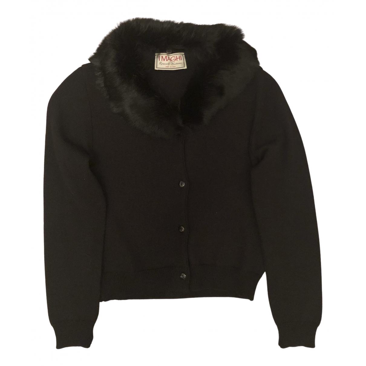 Non Signé / Unsigned N Black Wool Knitwear for Women S International