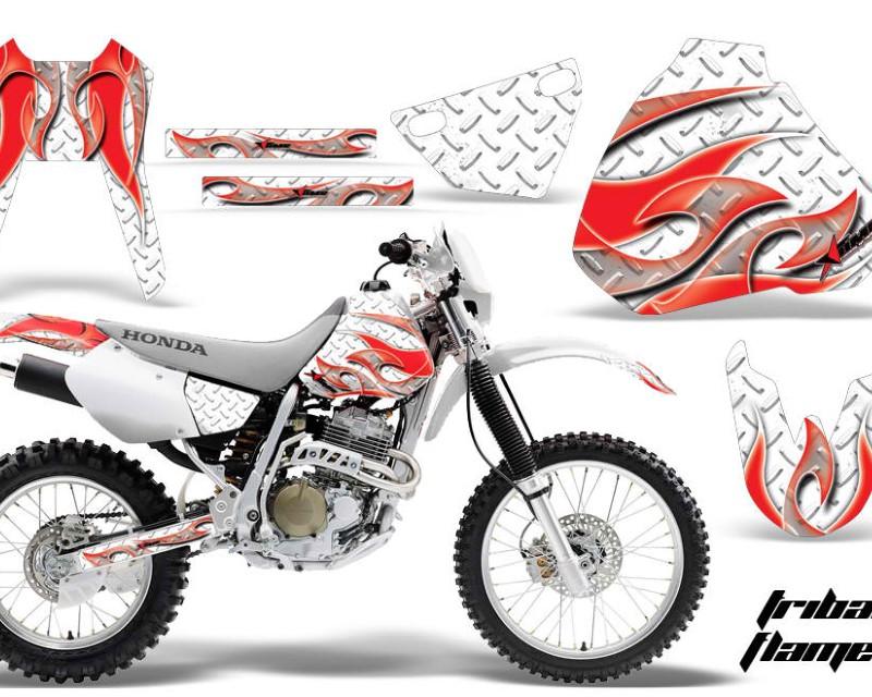 AMR Racing Dirt Bike Graphics Kit Decal Sticker Wrap For Honda XR400R 1996-2004áTRIBAL RED WHITE