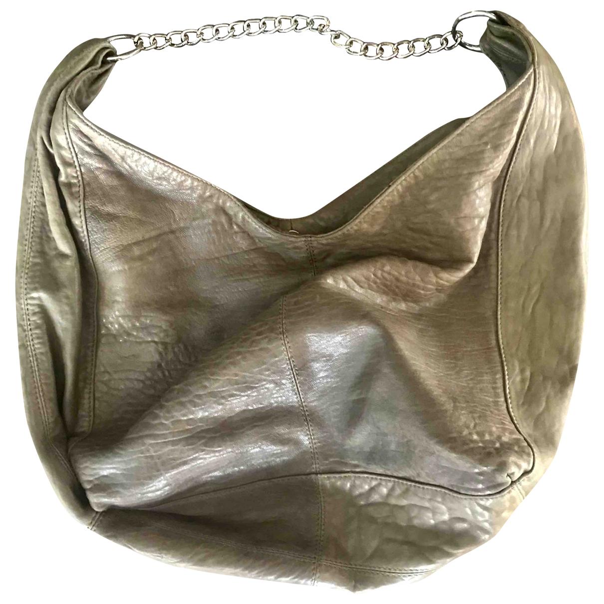 Sandro \N Beige Leather handbag for Women \N