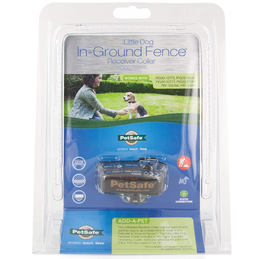 PetSafe Elite Little Dog In-Ground Fence Receiver Collar - UP to 55 lbs