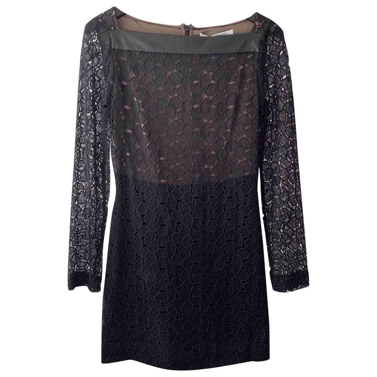 Diane Von Furstenberg \N Black Cotton dress for Women 4 US