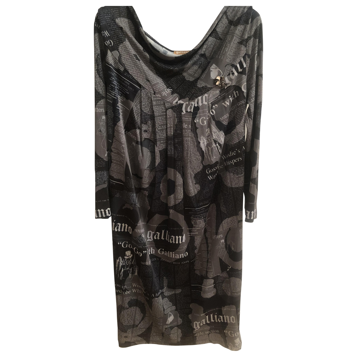 Galliano \N Kleid in  Bunt Polyester