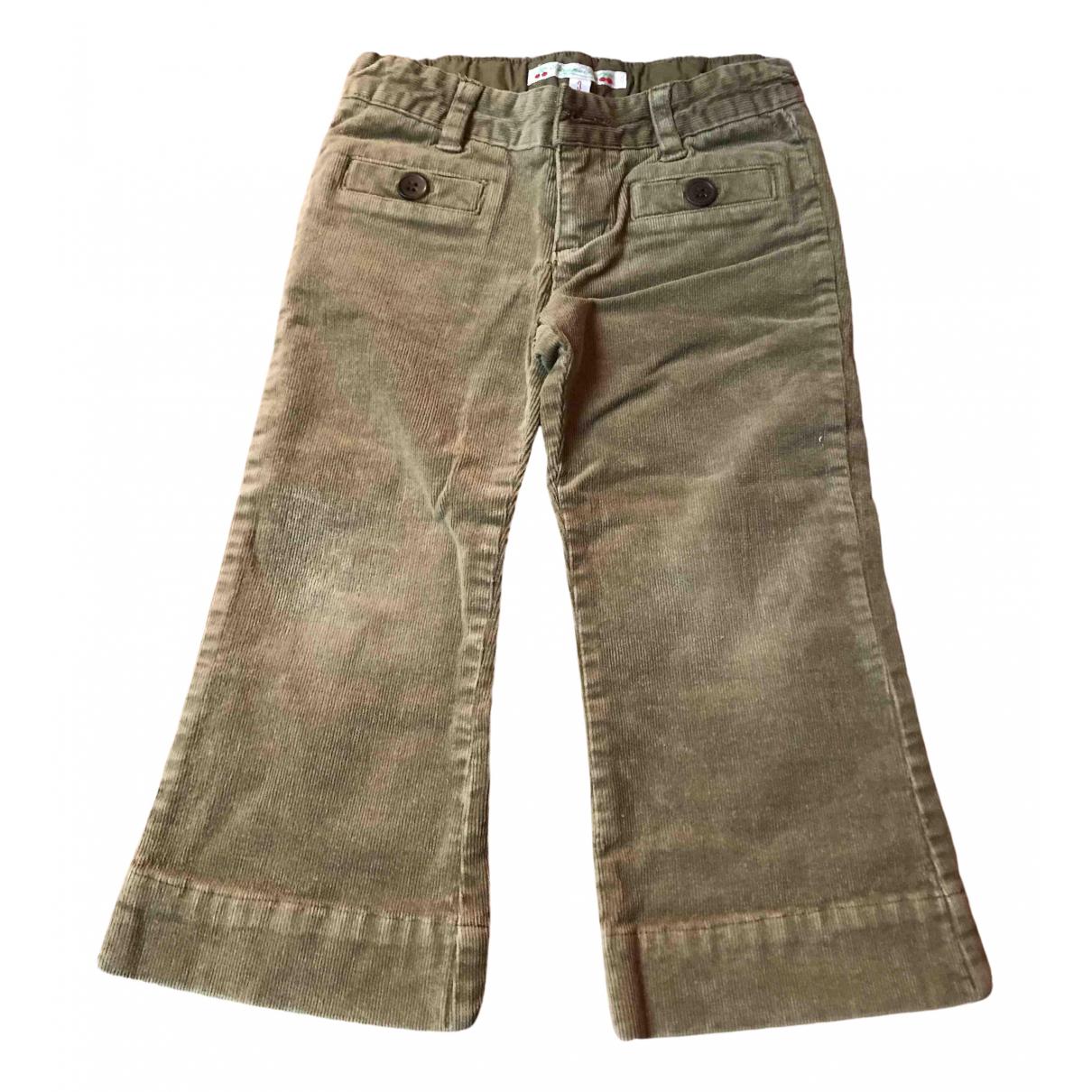 Bonpoint - Pantalon   pour enfant en velours - camel