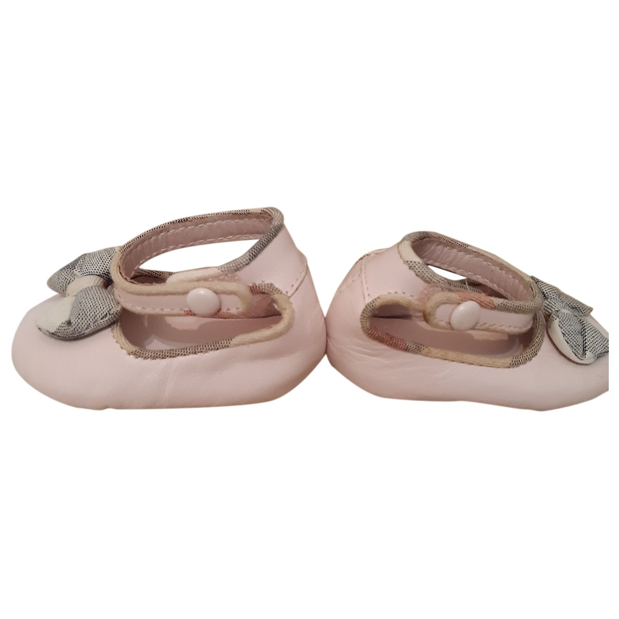 Burberry \N Pink Leather Ballet flats for Kids 18 EU