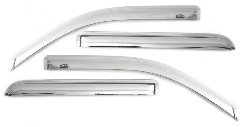 AVS 684615 Ventvisor Front & Rear Window Deflectors 4pc - Chrome Hyundai Elantra (Excl. GT) 2011-2016