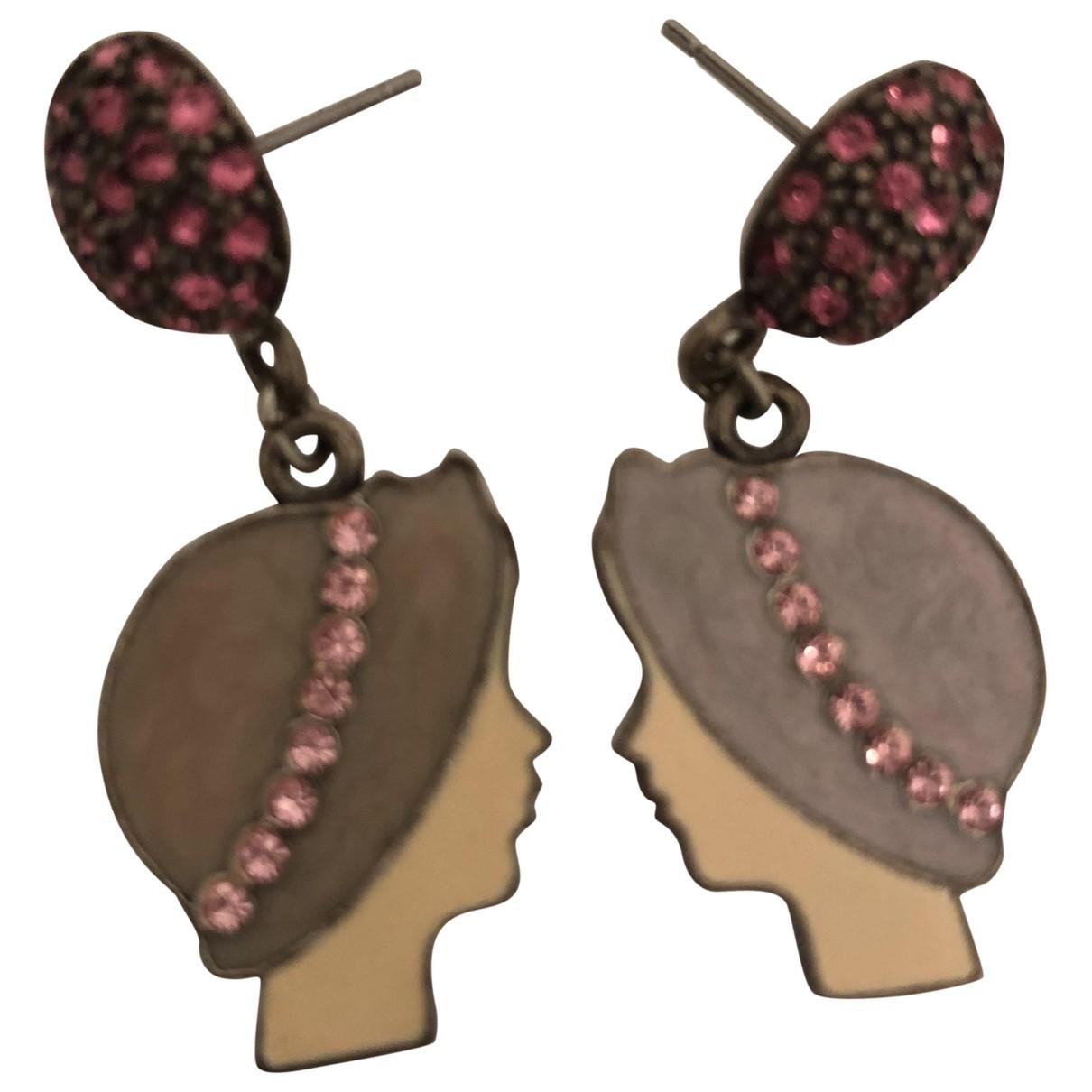 Les Nereides - Boucles doreilles   pour femme en ceramique - violet