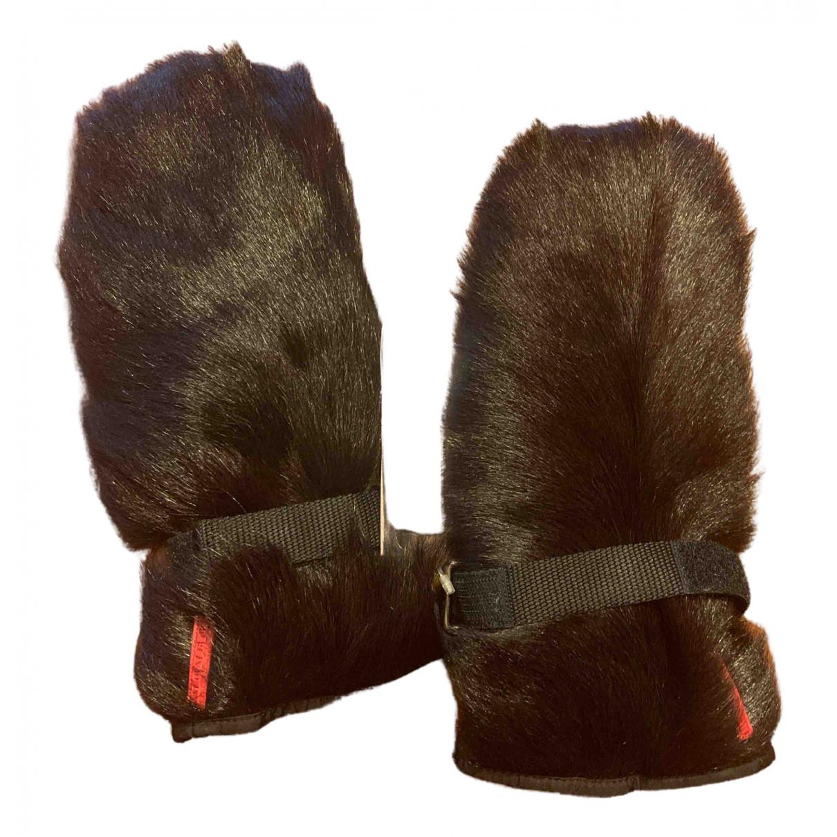 Prada \N Handschuhe in  Schwarz Nerz