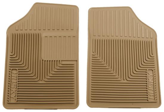 Husky Heavy Duty Front Floor Mats 80-13 Most Sedan Models-Tan