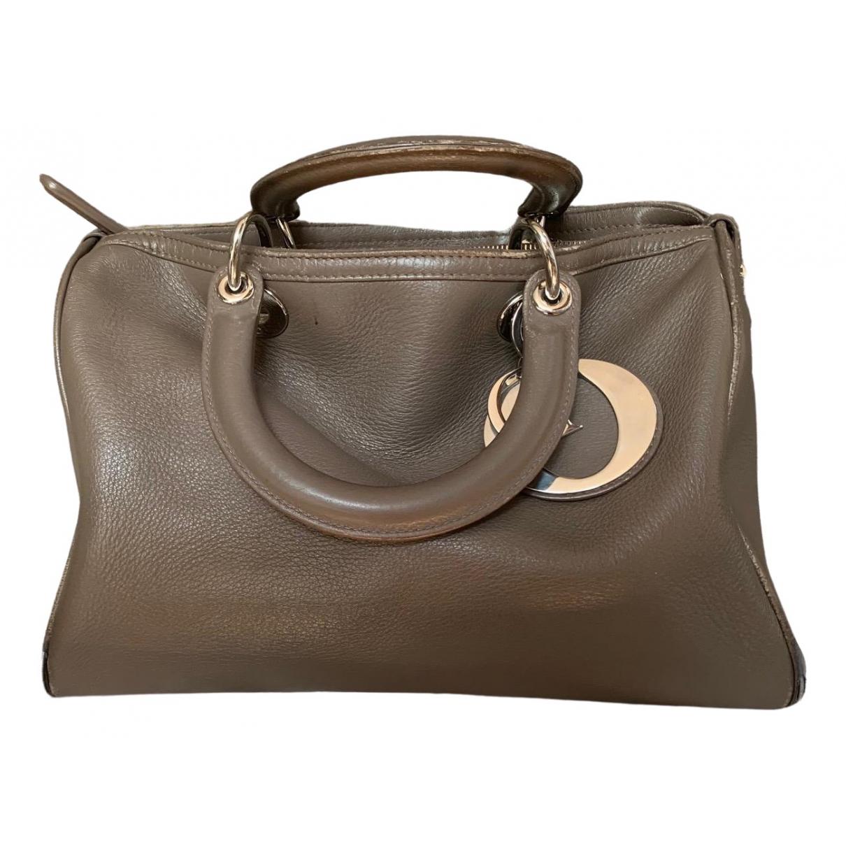 Dior \N Handtasche in  Grau Leder