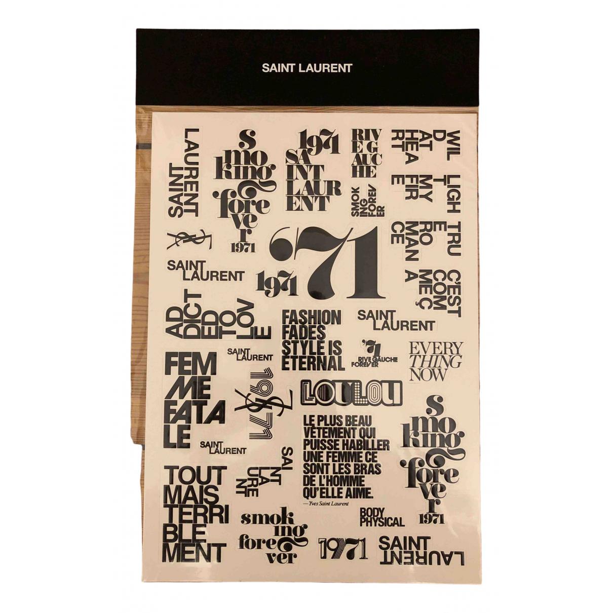 Saint Laurent - Objets & Deco   pour lifestyle en coton - noir