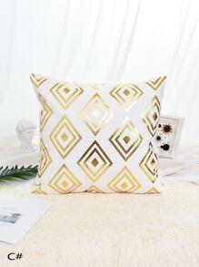 Geometric Pattern Print Cushion Cover 1pc