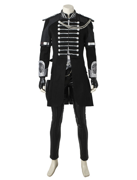 Milanoo Kingsglaive Final Fantasy XV Movie Noctis Lucis Caelum Suede Leather Cosplay Costume Carnival