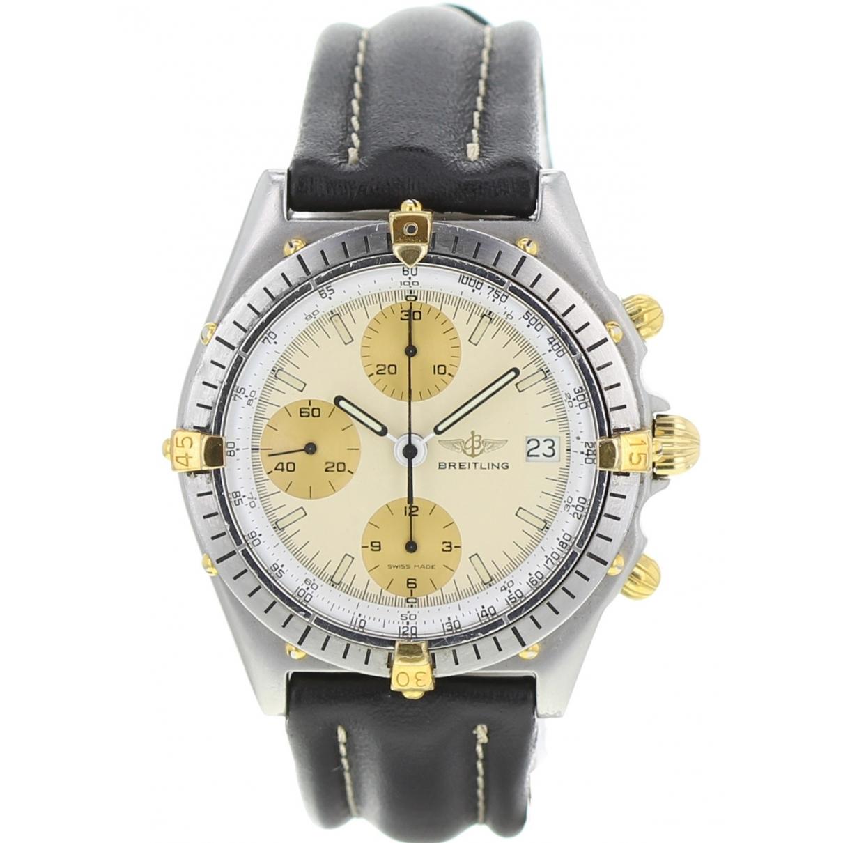 Breitling \N Black gold and steel watch for Men \N