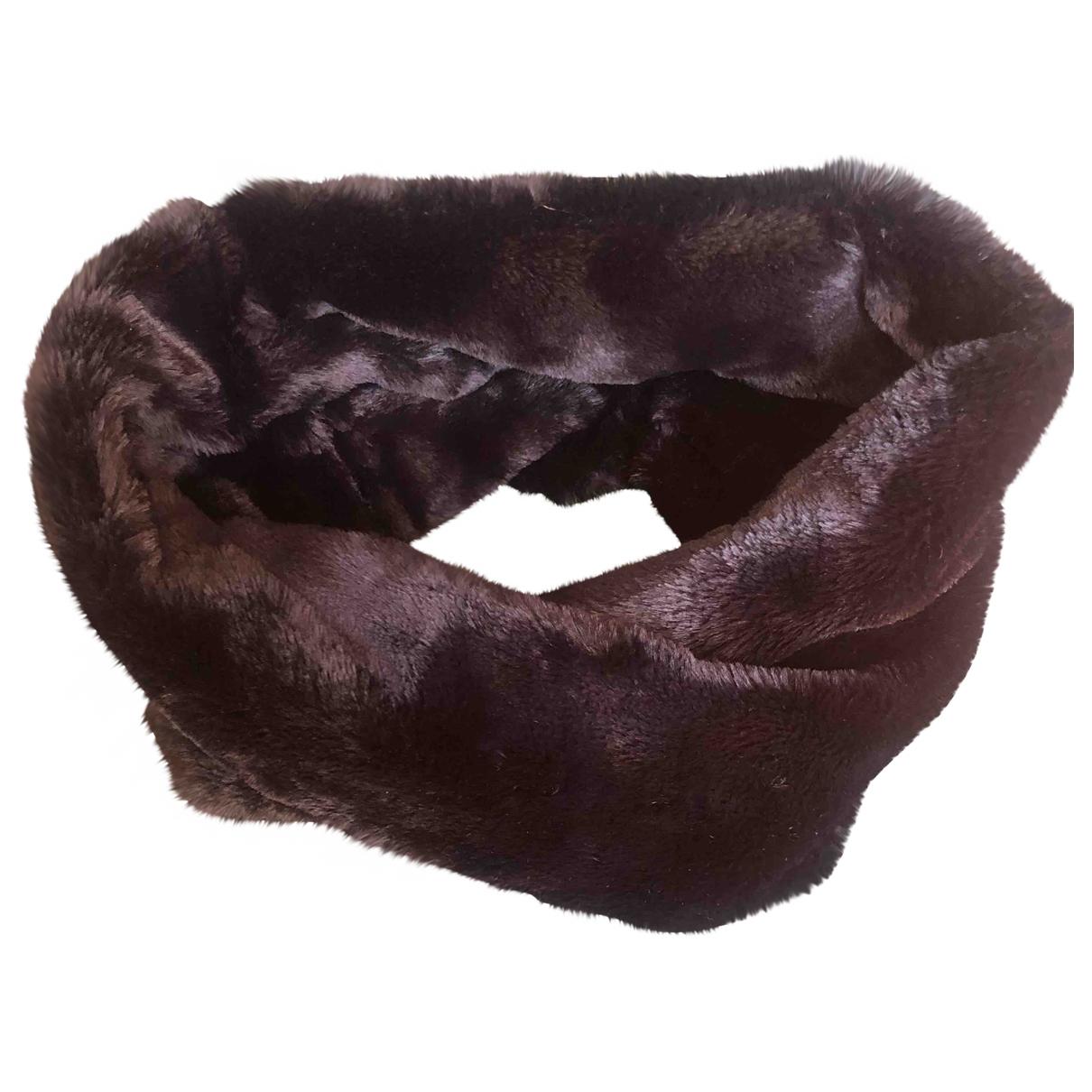 - Foulard   pour femme en castor - noir