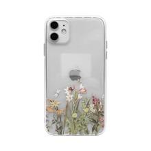 1 pieza funda de iphone con estampado de flor